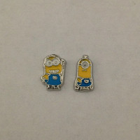Floating charms for living memory lockets - two eyed minion, one eyed minion