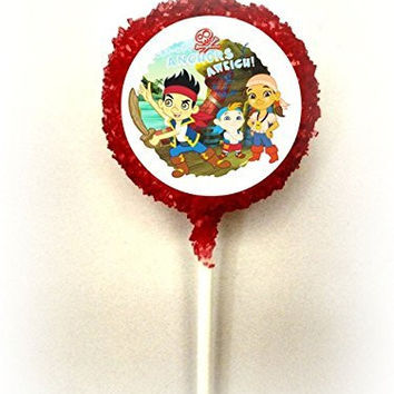 JAKE & THE NEVERLAND PIRATES White Chocolate Covered Oreo Cookie Pops