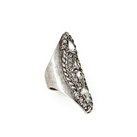 FOREVER 21 Rhinestone Teardrop Cocktail Ring Burn.S/Clear