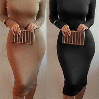 Fashion Women Bandange Dress Bodycon Long sleeve Sexy Clubwear Party Dress = 1931739460