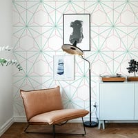 Hexagon and Triangle wallpaper - Geometric wallpaper - Easy stick wallpaper - Removable wallpaper - Self adhesive - Pattern Wallpaper - 3
