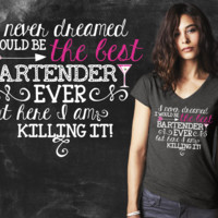 Best Bartender Ever Graphic T-shirt