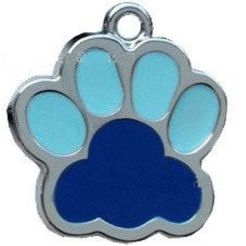 Paw Print Pet ID Tag Pendent