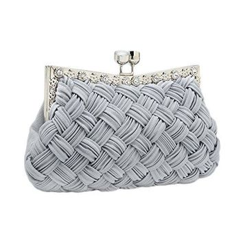 Charming Tailor Evening Bag Women Classic Clutch Woven Wedding Party Purse