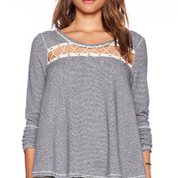 Free People Lacey Love Pullover in Blue