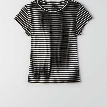 AEO Soft & Sexy Ribbed Tomgirl T-Shirt , Gray