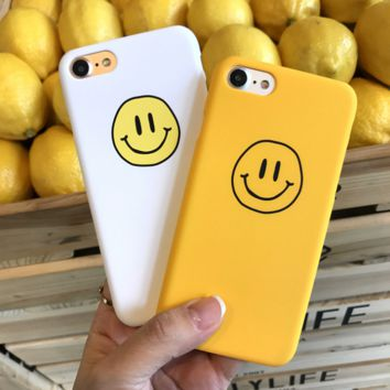 Smile Face Printed Shockproof Iphone 7 7Plus & 6 6s Pus &5 5s Cover Case