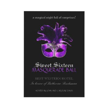 Sweet Sixteen Masquerade Invitation from Zazzle.com