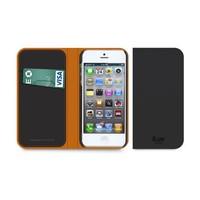 Diary by iLuv - Premium Genuine Leather Wallet Case with Credit Card Slots - Secure hold with PC Interior Shell (Made for Apple iPhone 5 & iPhone 5S)