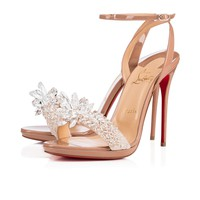 Crystal Queen 120 Nude Patent Leather - Women Shoes - Christian Louboutin