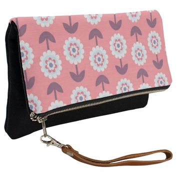 charming adorable floral clutch