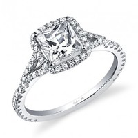Princess Cut Engagement Ring - SY595