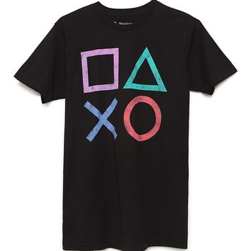Pacsun Playstation Icon T-Shirt - Mens Tee - Black
