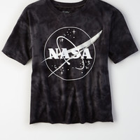 AE Acid Washed NASA T-Shirt, Black