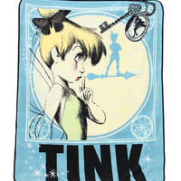Disney Peter Pan Tinker Bell Clock Throw