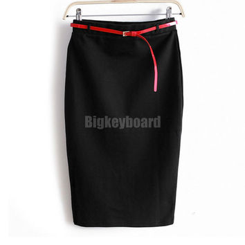 Fashion Summer Women's long skirt  jupe Ladies High Waist Midi Bodycon Slim Pencel Skirt faldas maxi skirt a2
