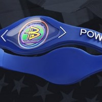 Original Power Balance Silicone Bracelet Navy Blue size Medium