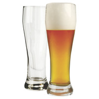 Basic Footed Pilsner Glasses, Set of 4, Beer Glasses & Mugs