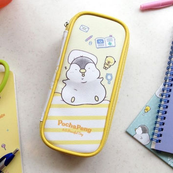 Pochapeng zip around pencil case pouch