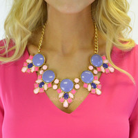 Candy Couture Purple Fashion Necklace - Purple