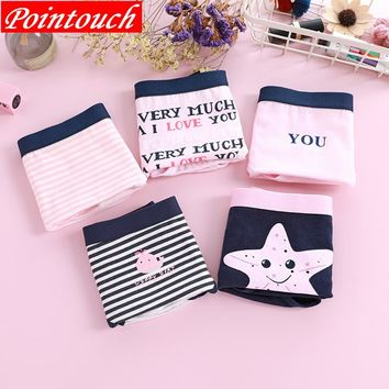 POINTOUCH Women Panties Sexy Cotton Underwear Girls Fresh Cute Letter lingerie Briefs Lady Breathable Soft Underpants