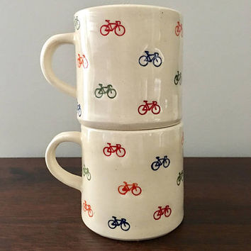Ceramic Bicycle Mug, Bicycle Mug, Handmade Ceramic Mug, Bicycle Coffee Mug, Gifts for Cyclists, Cycling Lover's Gift