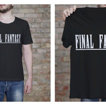 Final Fantasy Shirt - Gamer Shirt - Final Fantasy Logo Tee - ScreenPrint - Graphic Tee - Geekery - Printed T Shirt - Fandom Shirt