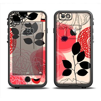 The Pink Nature Layered Pattern V1 Apple iPhone 6 LifeProof Fre Case Skin Set