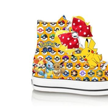 Yellow Limited edition POKEMON Ball PIKACHU birthday inspired shoe (CONVERSE)