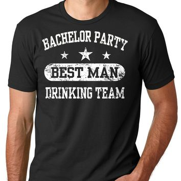 Bachelor Party Best Man Drinking Team T-shirt Groom Tee