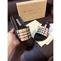 Burberry Women Fashion Leather Slipper Sandals Shoes