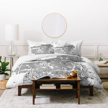 CityFabric Inc San Francisco White Duvet Cover