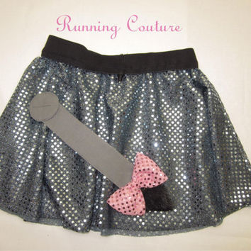 Eeyore inspired Sparkle Running Misses circle skirt