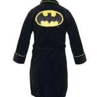 Batman Limited Edition Unisex Black Terrycloth Robe Adult One Size Fits Most