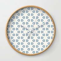 Acrylic Blue Pattern Circles Wall Clock by Doucette Designs
