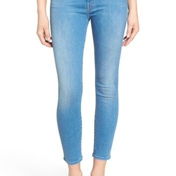 MOTHER 'The Looker' High Rise Crop Skinny Jeans (Chill) | Nordstrom