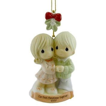Precious Moments OUR FIRST CHRISTMAS TOGETHER Porcelain Dated Ornament 710004
