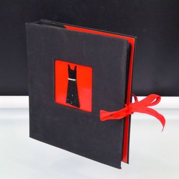 Girls Photo Album Holds 200 Photos 4 x 6 Black Red