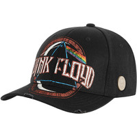 Pink Floyd Men's  Distressed Dark Side Of The Moon Album Baseball Cap Black