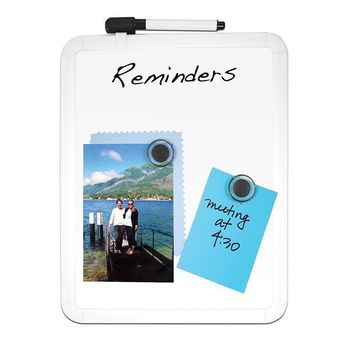 FRAMED MAGNETIC DRY ERASE BOARD SET