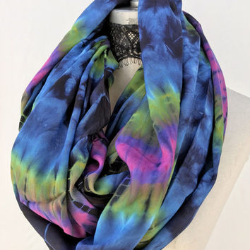 Tye dye scarf, Tye die Tie dye  infinity scarves, most popular item, wraps shawls, christmas stocking, handmade gift, womens gift for mom