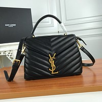 YSL SAINT LAURENT WOMEN'S LEATHER LOULOU PUFFER HANDBAG INCLINED SHOULDER BAG