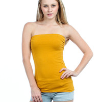 Mustard Strapless Tube Top