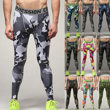 Wade Sea Men Camouflage Quick-drying Pant Compression Trousers Leggings Running Sports Gym Male Trousers Capris Of Fitness Pants