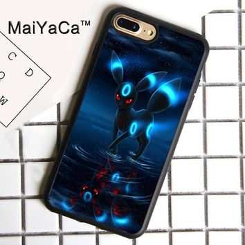 MaiYaCa RARE POKEMONS UMBREON Print Soft Rubber Cover For iPhone 8 Plus Case For Apple iPhone 8plus Phone Cases Shell