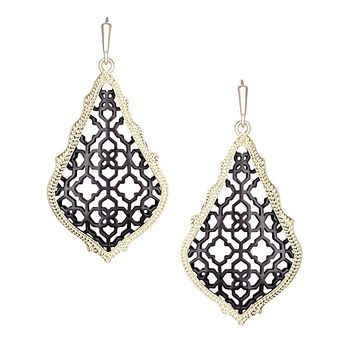 Addie Earrings in Gunmetal - Kendra Scott Jewelry