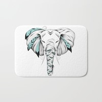 Poetic Elephant Bath Mat by LouJah
