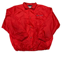 Vintage 90s Red Tommy Hilfiger Windbreaker Jacket Mens Size XXL