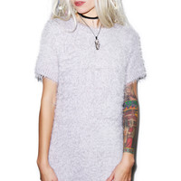 For Love & Lemons Snow Day Sweater Dress Lilac