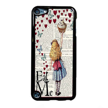 Alice in Wonderland Madhatter Chershire Cat FOR IPOD TOUCH 5 CASE *NP*